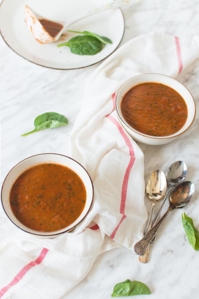 soupe tomate et épinard-2