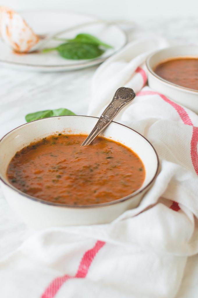 soupe tomate et épinard