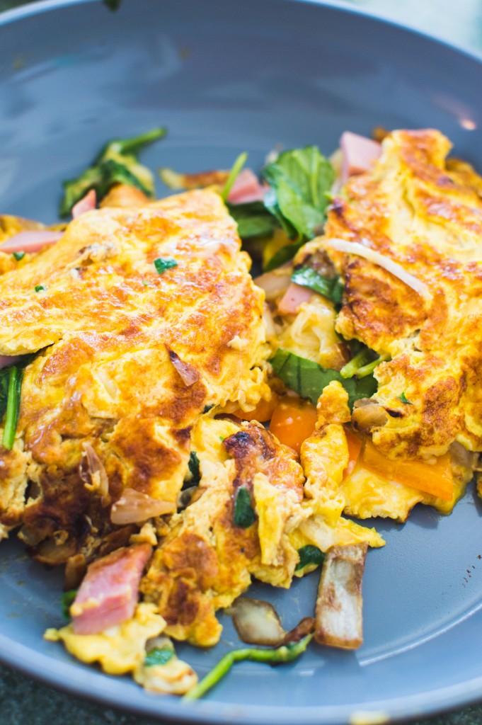 Omelette au jambon