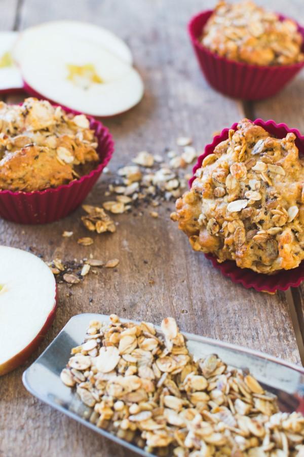 muffin pomme et granola-2