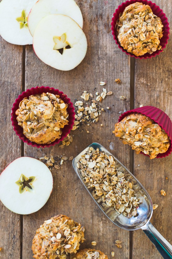muffin pomme et granola